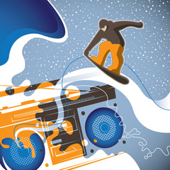 Designed conceptual snowboarding banner.