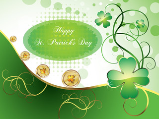 St. Patrick's Day design. Vector illustration