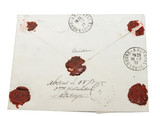 Vintage letter with wax seal from 1937