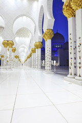 Interiors of Sheikh Zayed Mosque, Abu Dhabi, UAE