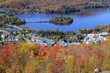 Mont Tremblant lake and village, Quebec, Canada
