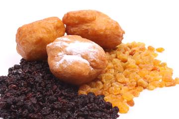 Dutch donuts, called oliebollen