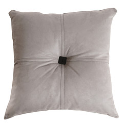 Gray cushion. Isolated