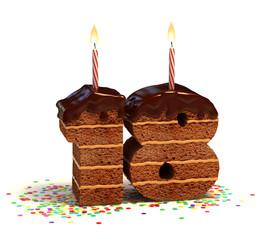 birthday cake for a eighteenth birthday or anniversary