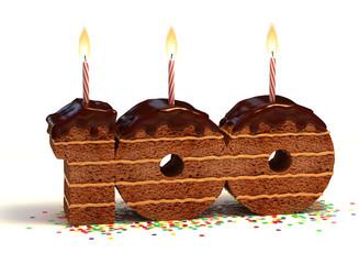 birthday cake for a hundredth birthday or anniversary