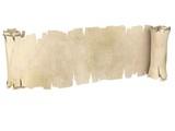 parchment banner 3d illustration