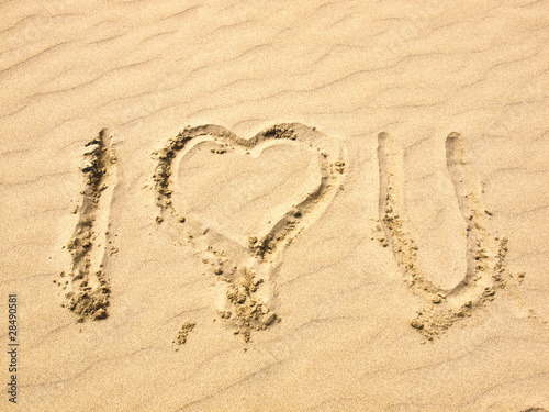 love you in sand. I Love You Written in the Sand