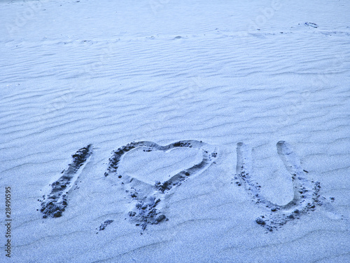 I Love You Written in Blue Sand