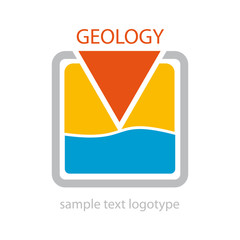Logo geologist. Search of water # Vector