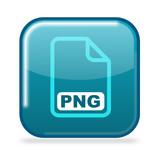 Button PNG aqua poster