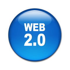 Boton brillante texto WEB 2.0