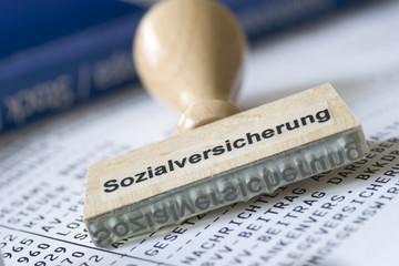 Sozialversicherung auf einer Gehaltsabrechnung