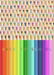 Ritorno a scuola su matite (verticale)