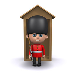 3d Soldier in front of sentry box