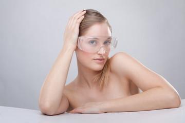 plastic protective goggles