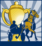 harness racing sulkies championship cup poster