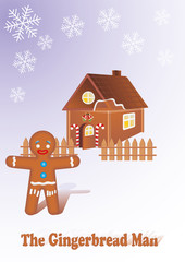 Vector illustration of gingerbread ma