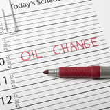 Calendar reminder, oil change