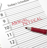 Calendar reminder, annual physical