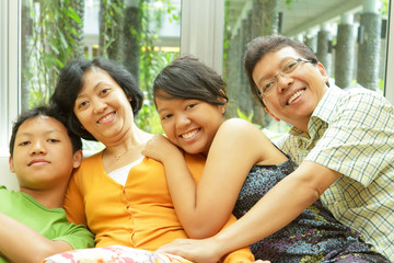Asian family togetherness