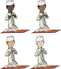 Muslim Boy Praying