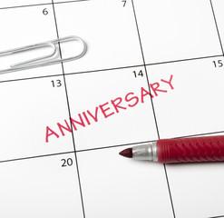 Calendar reminder, anniversary