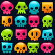 Gummy Candy Skulls