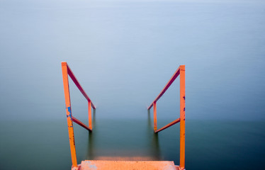 The step in the lake