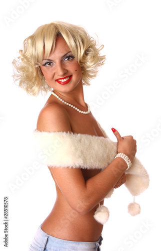 blond pin up girl
