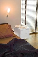 dettaglio della camera da letto moderna
