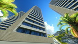 Modern Office blocks in Honolulu