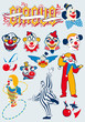 vector circus clowns