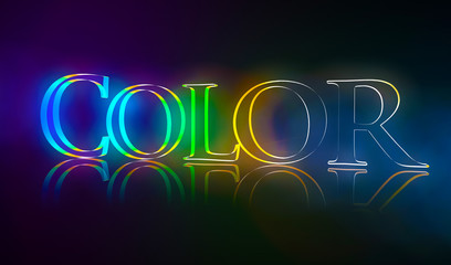 3D Typografie Color