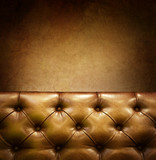 Luxury Furniture with copyspace. Genuine leather poster