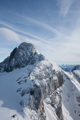 View from  observation deck on  Dachstein glacier. Austria