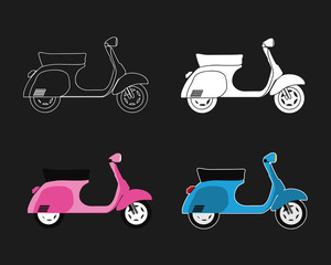 scooter vector set