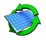 renewable energy solar panels poster