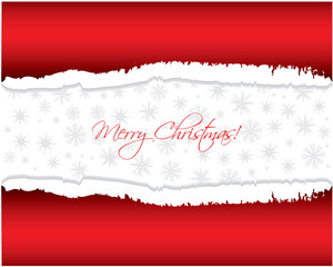Ripped paper with Christmas design
