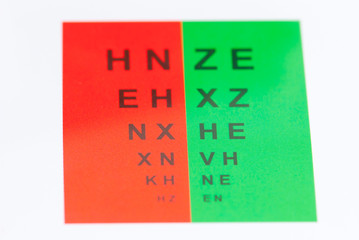 Rot-Grün-Test, Optik