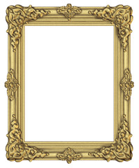 Art frame award blank isolated on white