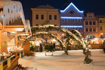Christmas Market in Litomerice, Czech Republic