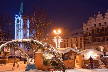 Christmas Market in Litomerice, Czech Republic
