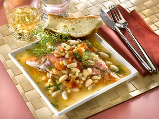 ragoût de mulet à la tomate - mullet stew - triglie