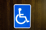 Handicap restroom signage poster