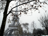 Fototapety France Paris trocadero under snow