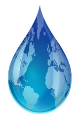 Global Water Droplet