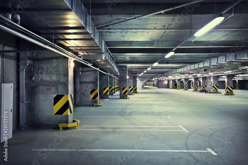 Leinwanddruck Bild Underground parking