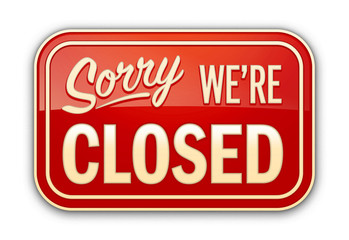 Sorry closed oldstyle red