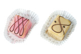Petit four,. french high quality confectionery, isolated on whit poster