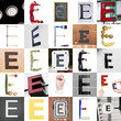 Collage of Letter E